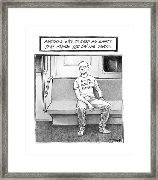 Title: Another Way To Keep An Empty Seat Framed Print