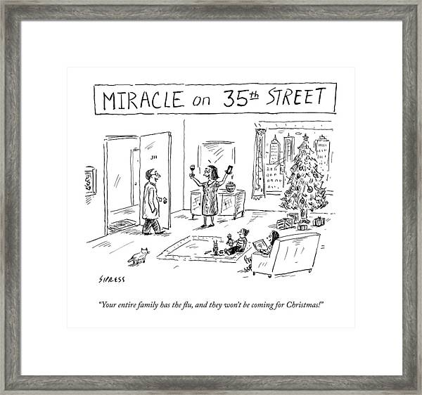 Title: Miracle On 35th Street. A Family Framed Print