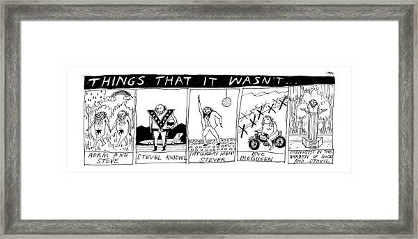 Title: Things That It Wasn't... Multi Panel Framed Print by Edward Steed