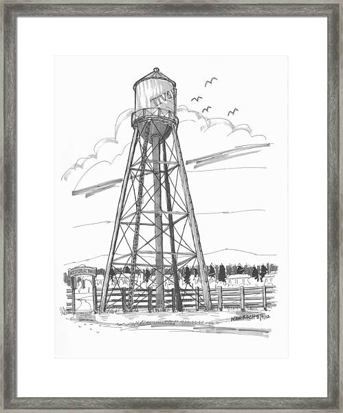 Tivoli Water Tower Framed Print