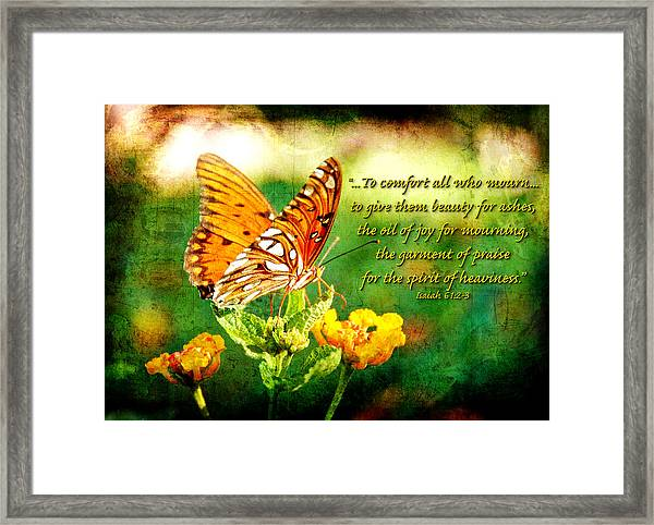 To Comfort All Who Mourn Framed Print