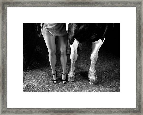 To Cool One's Heels Framed Print