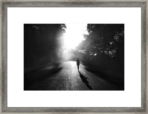 To Escape Framed Print