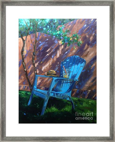 To Sit And Stare  Framed Print