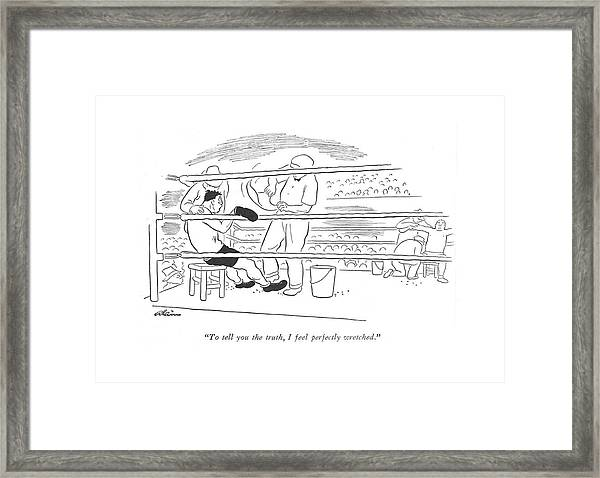 To Tell You The Truth Framed Print