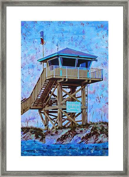 To The Beach Framed Print