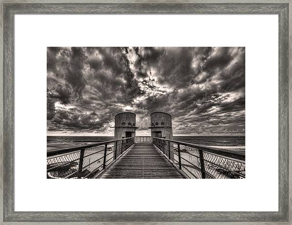 To The Bridge Framed Print