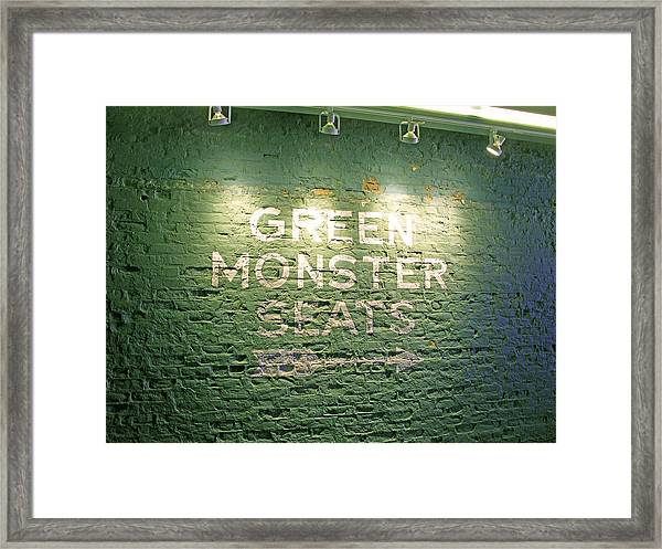To The Green Monster Seats Framed Print