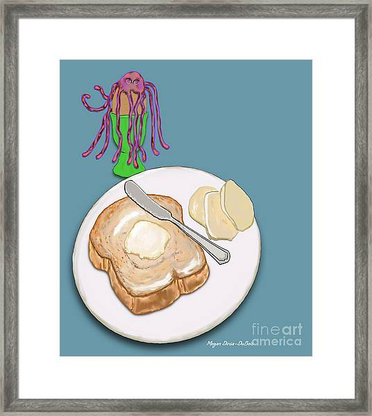 Toast And Jelly Framed Print