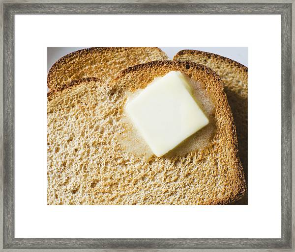 Toast With Meltin Butter Framed Print by Jamie Grill