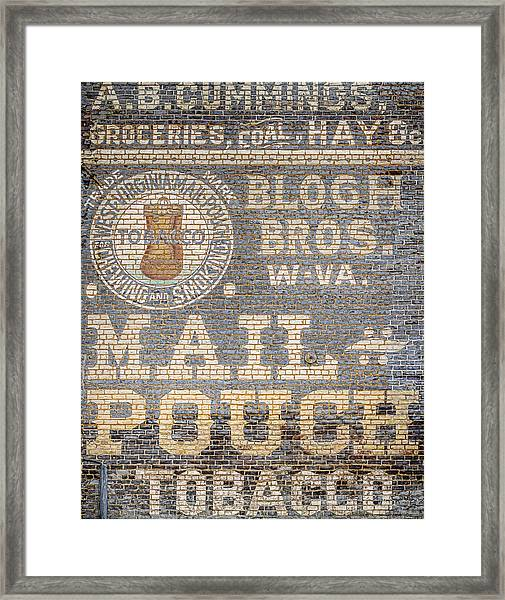 Tobacco Advertisement Framed Print