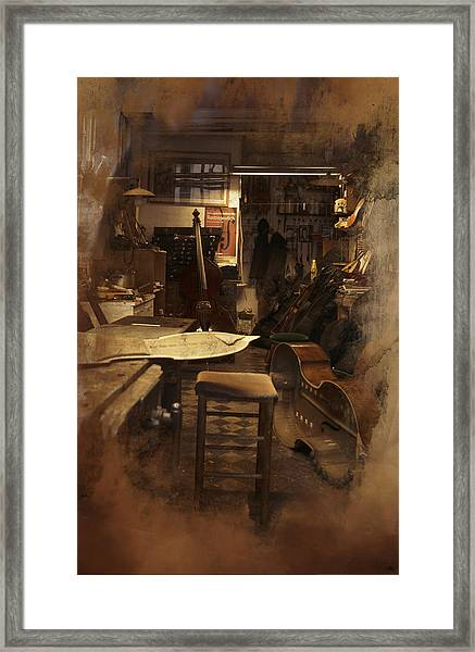 Tobacco Cello Framed Print