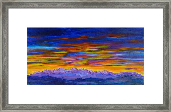 Tobacco Root Mountains Sunset Framed Print