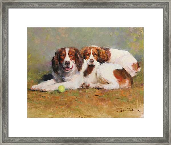 Toby And Ellie Mae Framed Print