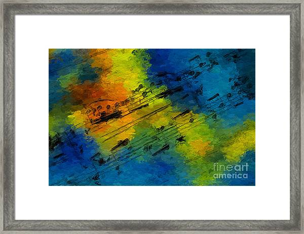 Toccata In Blue Framed Print