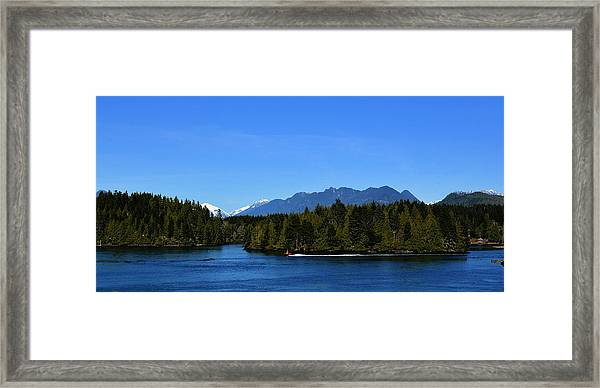 Tofino Bc Clayoquot Sound Browning Passage Framed Print