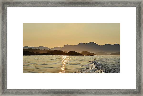 Tofino Morning On The Pacific Ocean Framed Print by Jan Lyall Photography
