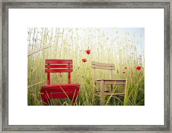 Together Then Framed Print