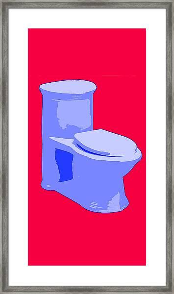 Toilette In Blue Framed Print