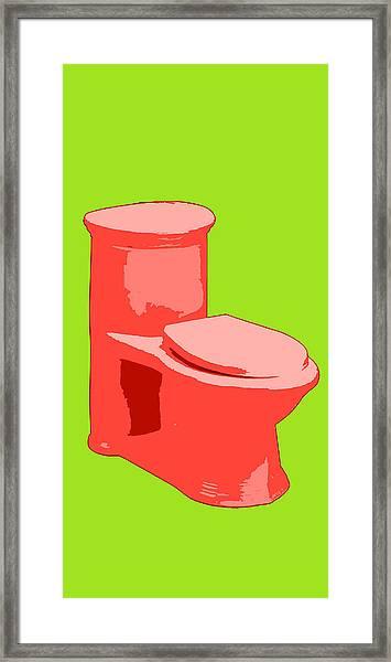 Toilette In Red Framed Print