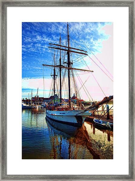 Tole Mour Sailing Ship Framed Print