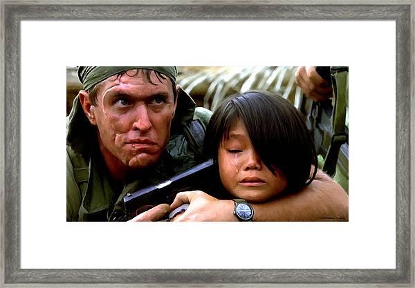Tom Berenger In The Film Platoon - 1 Framed Print