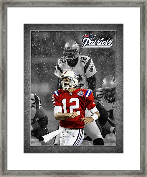 Tom Brady Patriots Framed Print