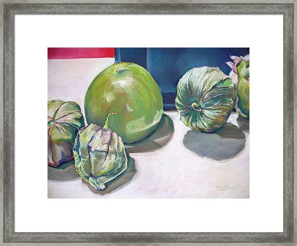 Tomatillo Ole Framed Print
