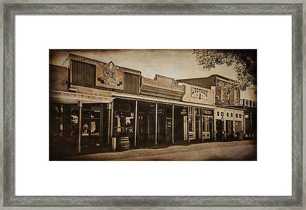 Tombstone Az Framed Print