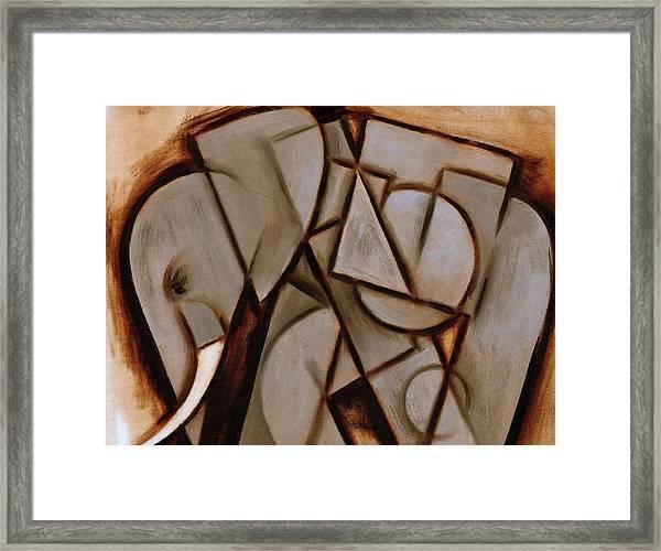 Tommervik Abstract Cubism Elephant Art Print Framed Print