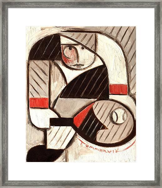 Tommervik Abstract Tennis Art Player Framed Print