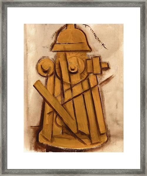 Abstract Fire Hydrant Art Print Framed Print