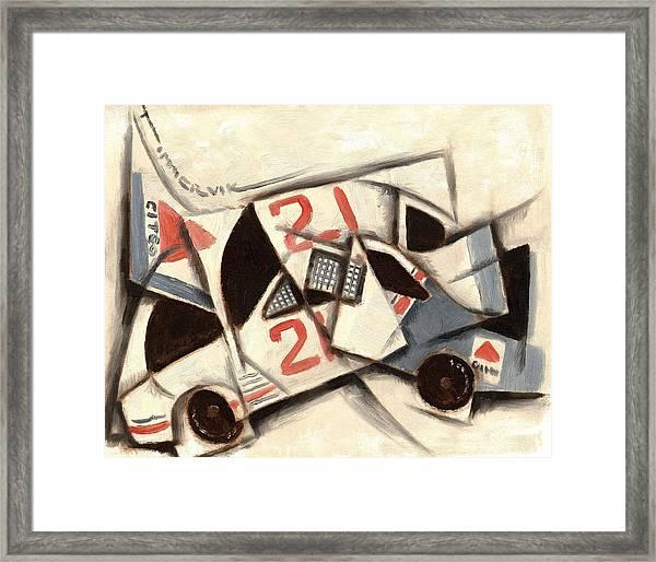Tommervik Cubism Race Car  Framed Print