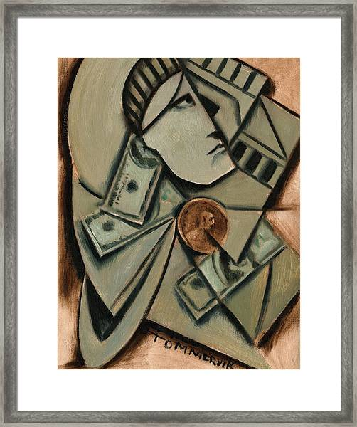 Tommervik Cubism New York Statue Of Liberty Art Print Framed Print