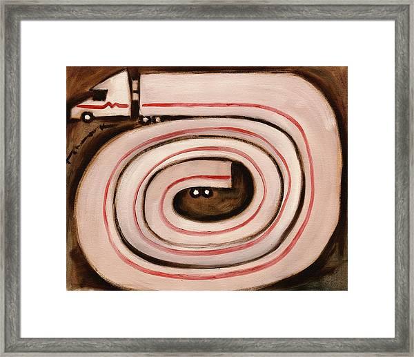 Tommervik Semi Snake Art Print Framed Print