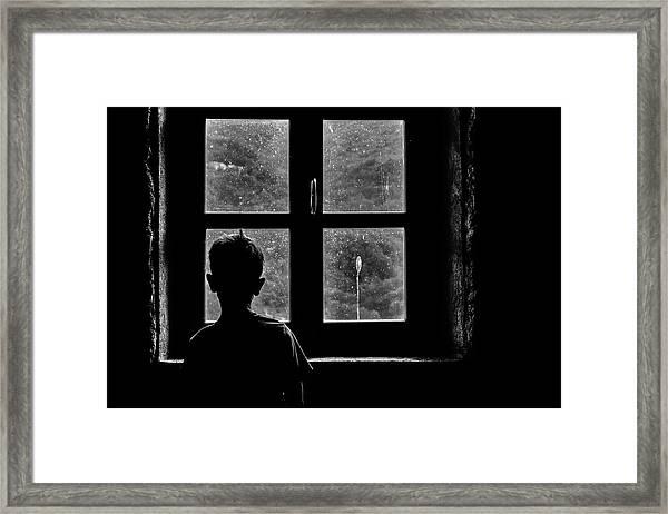 Tomorrow Framed Print by Claudio Montegriffo (nero)