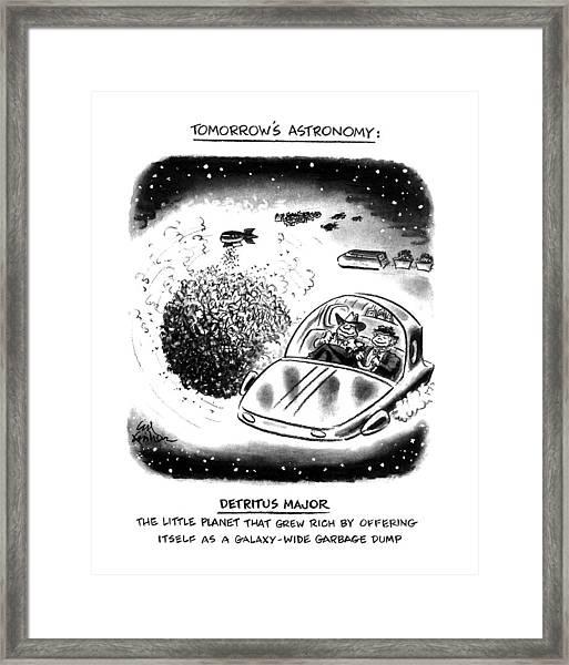 Tomorrow's Astronomy Detritus Major The Little Framed Print