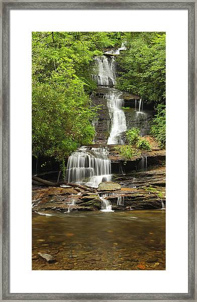 Toms Branch Falls Framed Print