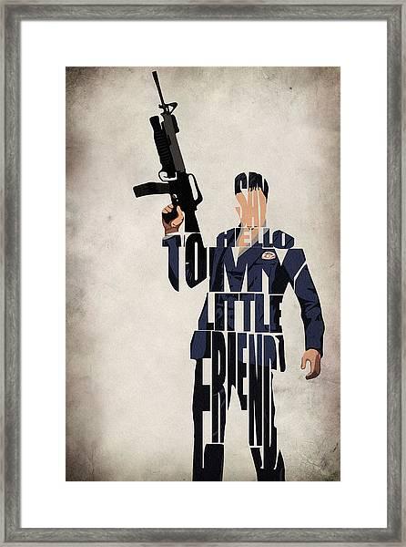 Tony Montana - Al Pacino Framed Print