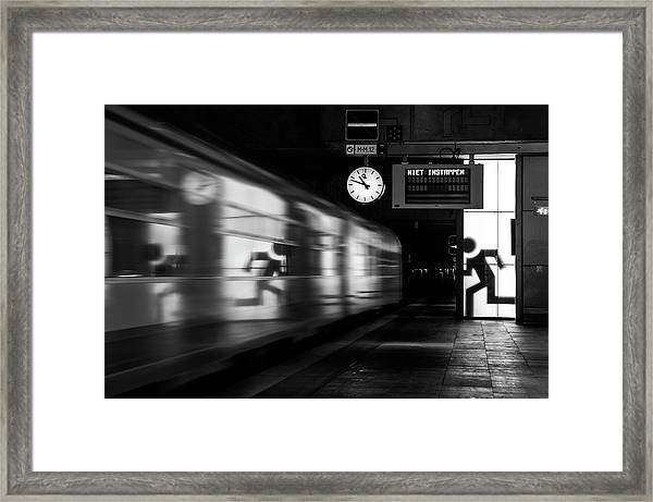 Too Late Framed Print