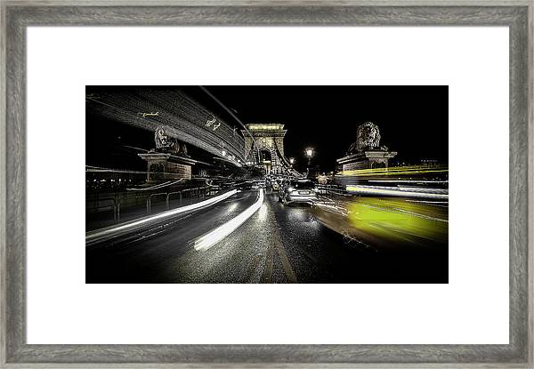 Too Much Traffic Framed Print