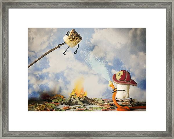 Too Toasted Framed Print