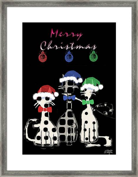 Toon Cats Christmas Framed Print