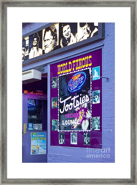 Framed Print featuring the photograph Tootsies Nashville by Brian Jannsen