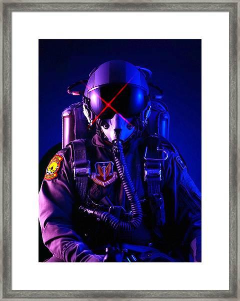 Top Gun Pilot  Framed Print