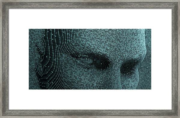 Top Half Of Face In Three Dimensional Framed Print