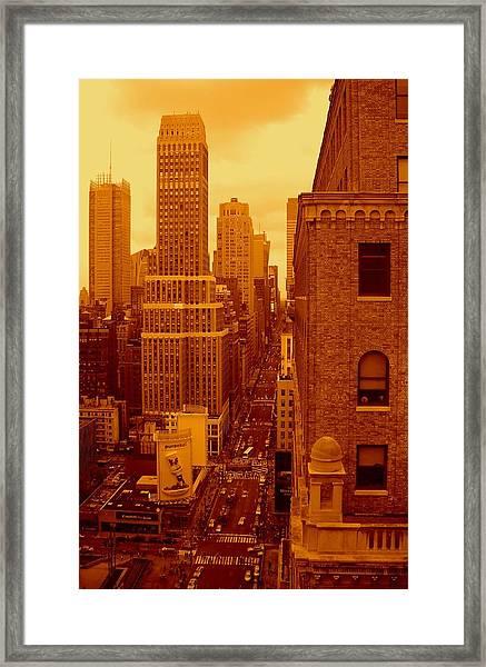 Top Of Manhattan Framed Print