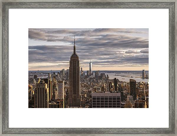 Top Of The Roc Framed Print