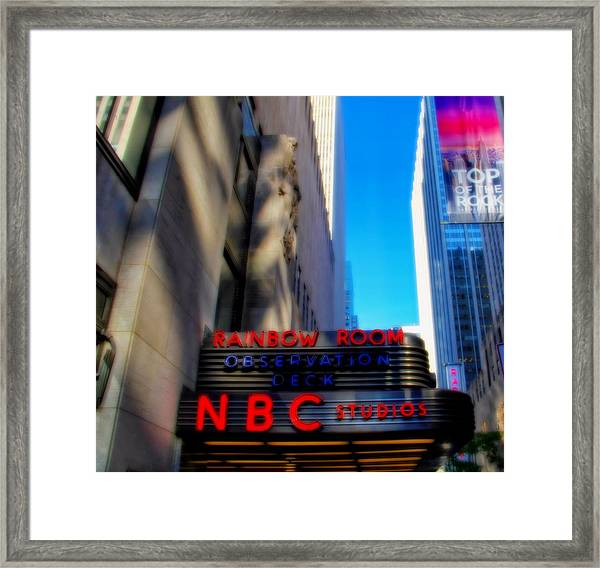 Top Of The Rock Tour In New York City Framed Print