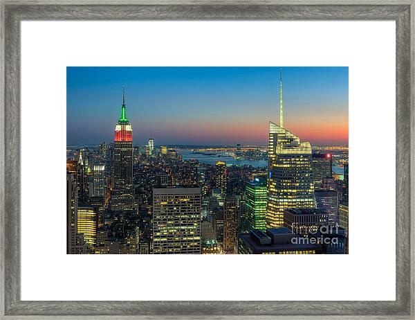 Top Of The Rock Twilight I Framed Print